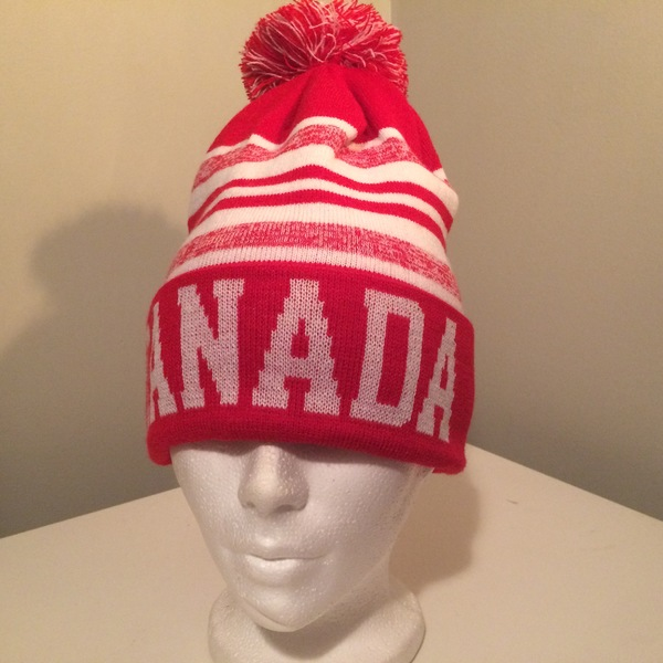 Boomerang - Red & White Striped Canada Knit Cap